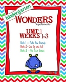 Kindergarten Wonders Reading Supplement ~ Unit 1 Bundle