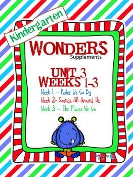Kindergarten Wonders Reading Supplement ~ Unit 3 Bundle
