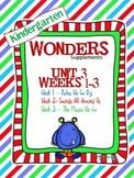 Kindergarten Wonders (2014) Reading Supplement ~ Unit 3 Bundle