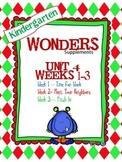 Kindergarten Wonders (2014) Reading Supplement ~ Unit 4 Bundle