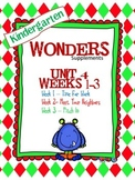 Kindergarten Wonders Reading Supplement ~ Unit 4 Bundle