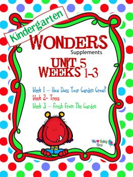 Kindergarten Wonders Reading Supplement ~ Unit 5 Bundle