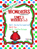 Kindergarten Wonders Reading Supplement ~ Unit 5 Bundle