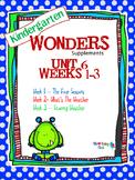 Kindergarten Wonders (2014) Reading Supplement ~ Unit 6 Bundle