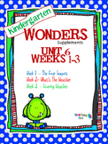 Kindergarten Wonders Reading Supplement ~ Unit 6 Bundle