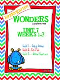 Kindergarten Wonders (2014) Reading Supplement ~ Unit 7 Bundle