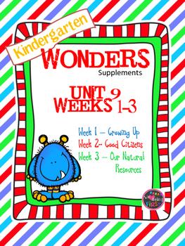 Kindergarten Wonders Reading Supplement ~ Unit 9 Bundle