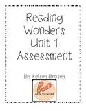 Kindergarten Reading Wonders Unit 1 Assessment