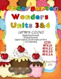 Kindergarten Wonders Reading Unit 3 & 4 Phonics Pack