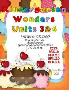 Kindergarten Wonders Reading Unit 3 & 4 Phonics Pack
