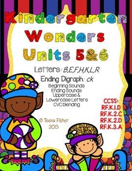 Kindergarten Wonders Reading Unit 5 & 6 Phonics Pack
