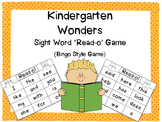 Wonders Kindergarten Sight Word Read-o Game {Bingo Style}