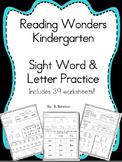 Kindergarten Wonders Sight Word and Letter Practice