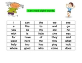 Kindergarten Wonders Sight Words for Data Notebooks