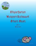 Kindergarten Wonders Smart Start Homework Packet