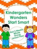 Kindergarten Wonders Start Smart Lesson Plans