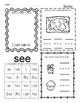 Kindergarten Wonders Unit 2 Homework Packet