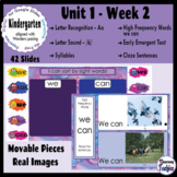 Kindergarten ELA Slides (aligned with Wonders Unit 1 Week 2)