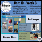 Kindergarten ELA Slides (aligned with Wonders Unit 10 Week 3)
