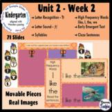 Kindergarten ELA Slides (aligned with Wonders Unit 2 Week 2)