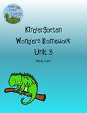 Kindergarten Wonders Unit 3 Homework Packet