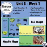 Kindergarten Wonders Unit 5 Week 1 - Google Slides Activities