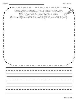 Kindergarten Wonders Unit 4 Writing Supplement Pack