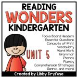 Kindergarten Wonders Unit 5