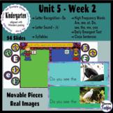 Kindergarten Wonders Unit 5 Week 2 - Google Slides Activities