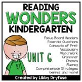 Kindergarten Wonders Unit 6