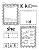 Kindergarten Wonders Unit 6 Homework Packet