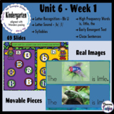 Kindergarten Wonders Unit 6 Week 1 - Google Slides Activities