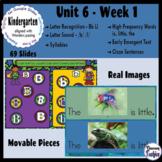 Kindergarten ELA Slides (aligned with Wonders Unit 6 Week 1)
