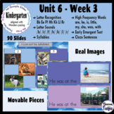 Kindergarten ELA Slides (aligned with Wonders Unit 6 Week 3)