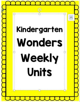 Kindergarten Wonders Unit 6 Weeks 1-3 Focus Board