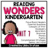 Kindergarten Wonders Unit 7