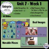 Kindergarten ELA Slides (aligned with Wonders Unit 7 Week 1)