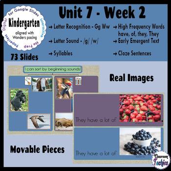 Kindergarten Wonders Unit 7 Week 2 - Google Slides Activities