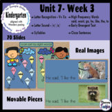 Kindergarten ELA Slides (aligned with Wonders Unit 7 Week 3)