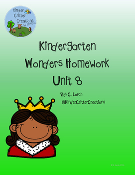 Kindergarten Wonders Unit 8 Homework Packet