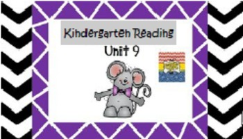 Kindergarten Wonders Unit 9 (Bundled)