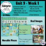 Kindergarten ELA Slides (aligned with Wonders Unit 9 Week 1)