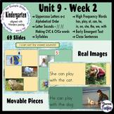 Kindergarten ELA Slides (aligned with Wonders Unit 9 Week 2)