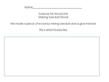 Kindergarten Wood Science Unit Bundle!  7 pages of printables! Aligned to Foss!