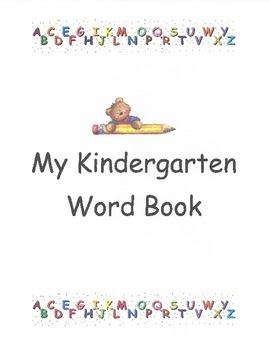 Kindergarten Word Book