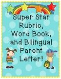 Kindergarten Word Book, Parent Letter, and Writing Scoresheet!