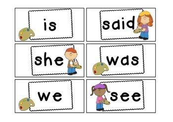 Kindergarten Word Cards