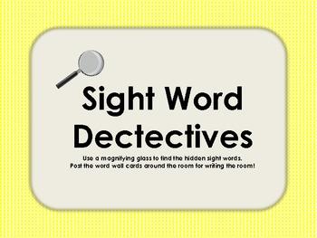 Kindergarten Word Detectives!