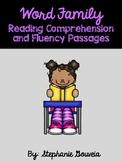 Kindergarten Word Family Reading Comprehension Fluency Passages