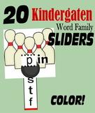 Kindergarten Word Family SLIDERS - COLOR